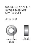 Kullager 19,05 x 6,35 mm