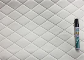 Konstläder svetsade rutor vit (07x605)