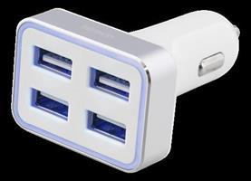USB CAR 4X 6.8A