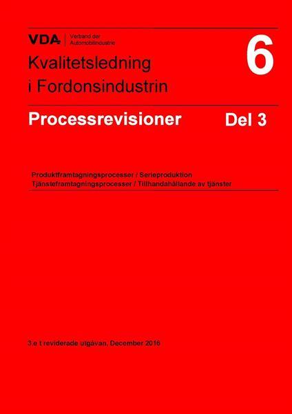 Processrevision VDA 6.3:2016