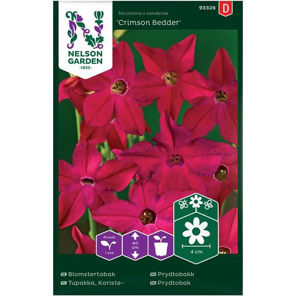 Blomstertobak Crimson Bedder,