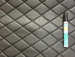 Konstläder svetsade rutor svart (07x3117)