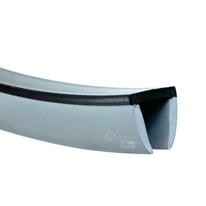 Slepelist U 13x14mm hard/myk grå - Løpemeter