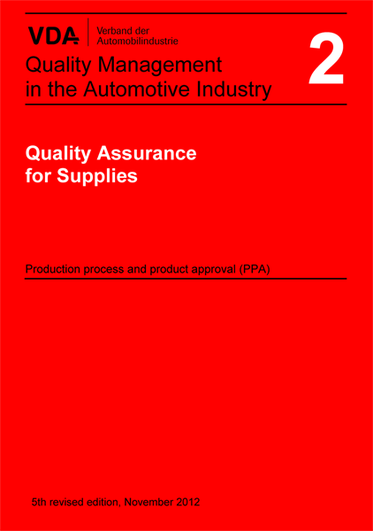 VDA Vol. 2 Quality assurance of supplies  (ENG)