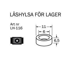 LH-116 Låshylsa 11  x 6  x 5,5 mm