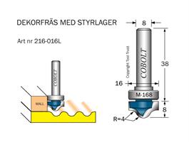 Dekorfräs m lager M-168