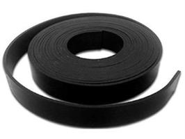 Gummistrips 150x3 mm sort u.lim CR/SBR - Løpemeter