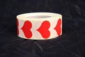 Sigilletikett Hjärta röd 2,2x2,8cm 1000/r