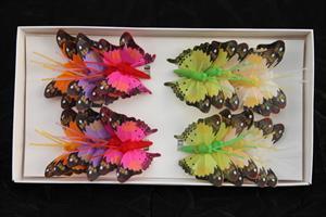 Fjäril mix 5 cm 24/fp