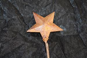 Stjärna metall med tråd rost 72/fp