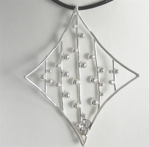 Natthimmel ett handgjort halssmycke i silver.