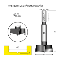 HM Kvistborr D=40 S=10 TL=90