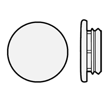 Karmplugg 10 mm Transparent - 16 stk
