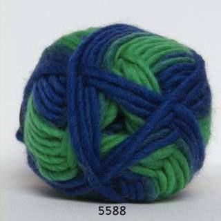 Kinna Textil Naturull print kornblå/turkos