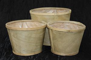 Krukkorg woodchip natur olika storlekar