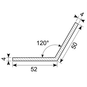 L-profil 50x52 mm sort - Løpemeter
