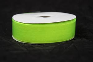 Band 25 mm 25m/r organza neongrön
