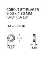 Kullager 9,53 x 4,76 mm
