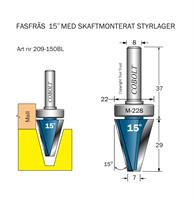 Fasfräs 15° m skaftlager M-228