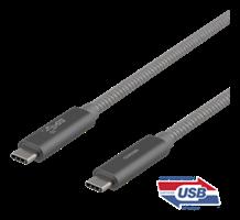 Kabel USB 1m C-C Spacegray