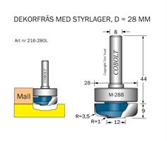Dekorfräs m lager M-288