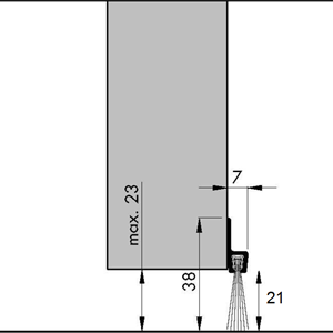 Børstelist 38 mm x 240 cm