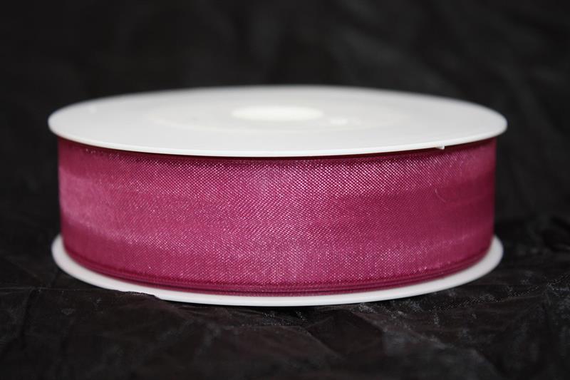 Band 25 mm 50 m/r organza violet