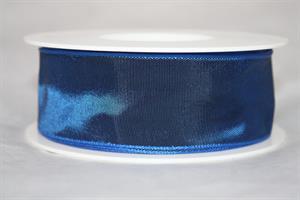 Band 40 mm 25 m/r blå med tråd