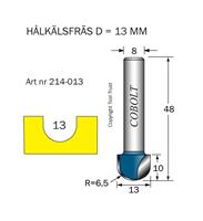 Hålkälsfräs R=6.5 D=13 L=10 TL=48 S=8