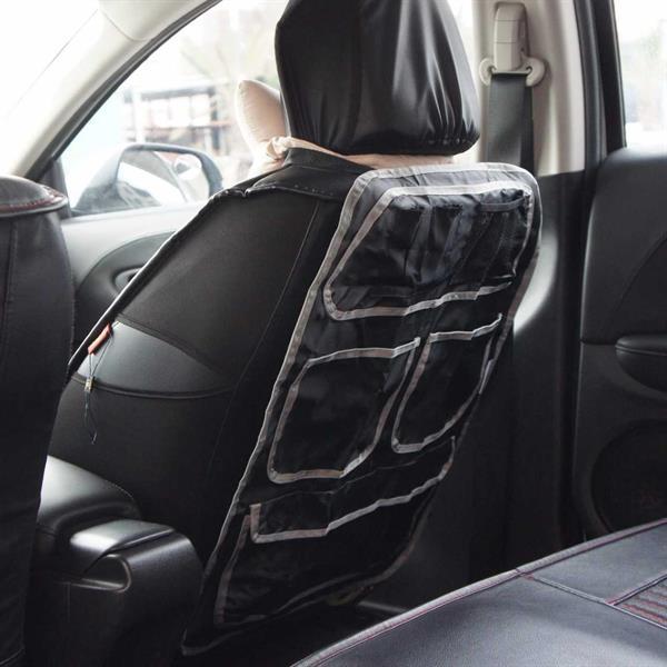 Bilstolsskydd med förvaringsfickor
