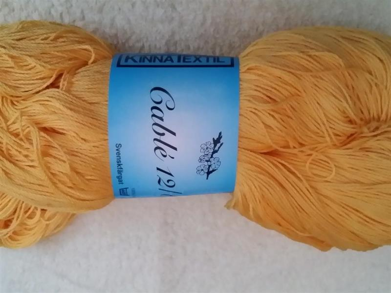 Kinna Textil Cable 12/6 gul