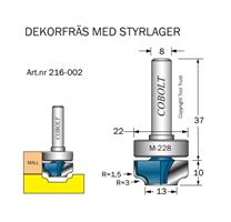 Dekorfräs m lager M-228