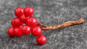 Bär röda D0,8cm 72x12st/fp