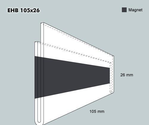 Etiketth. EHB 105-26F rak mag