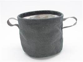 Textilkruka grå 22,5 cm 6/fp