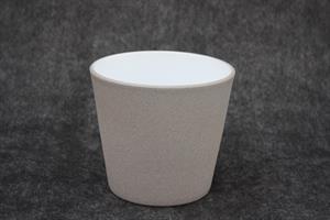 Kruka Stina grå/vit D15cm 6/fp