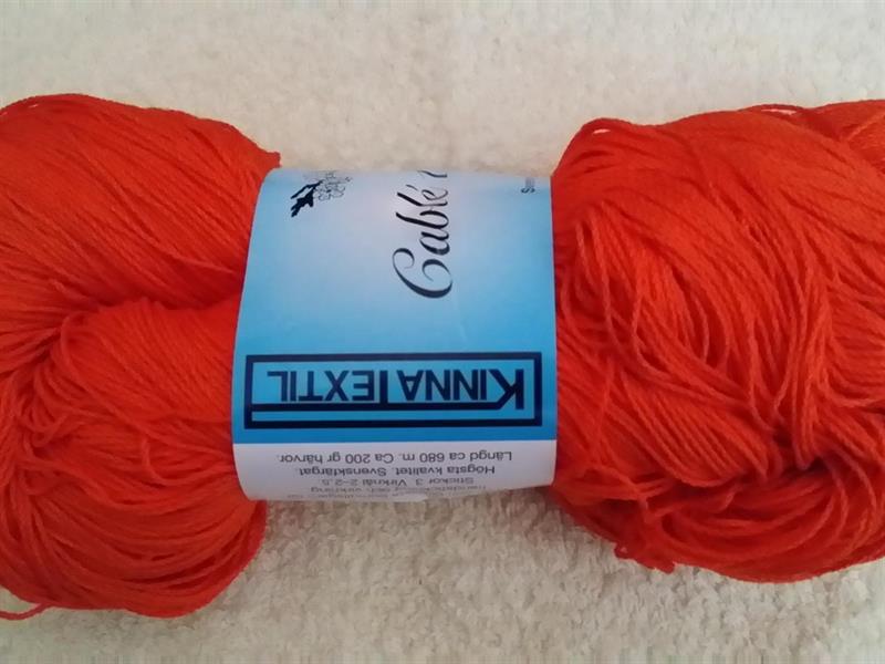 Kinna Textil Cablé 12/6 orange