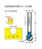 Kornischfräs R=6.5 D=13 L=13 S=8