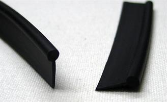 Keder plast enkel svart