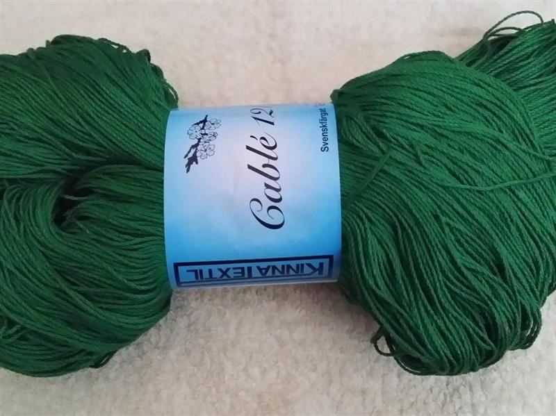 Kinna Textil Cablé 12/6 grön