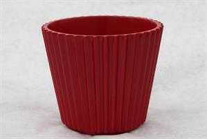 Kruka Cupcake röd 15 cm 6/fp