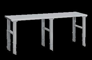 Arbetsbord 500 kg 2500x800 mm, stålskiva