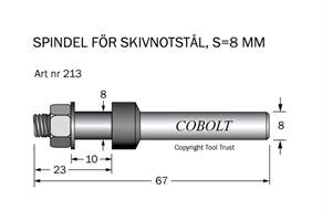 Spindel S=8 h=10 TL=67