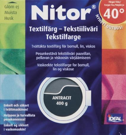TEXTILFÄRG ANTRACIT 66 NITOR