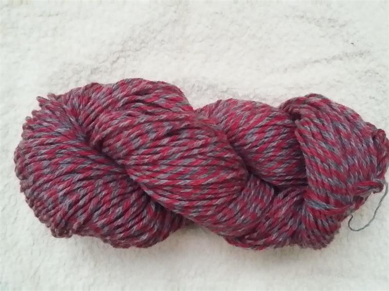 Kinna Textil Raggsocksgarn grå/röd