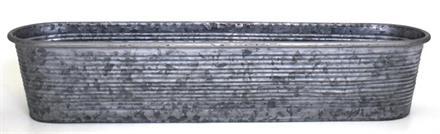 Balkonglåda zink Rand 60x14cm H12cm