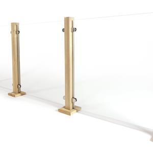 Sikkerhetsglass 217x830 mm herdet/laminert