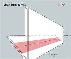Etiketthållare EBVA 210-40F vinklad 45°