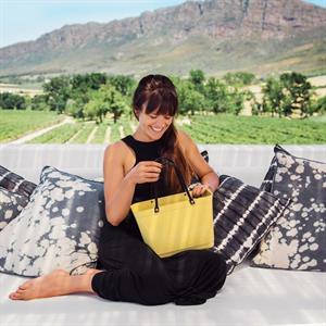 Hinza väska citrongul stor