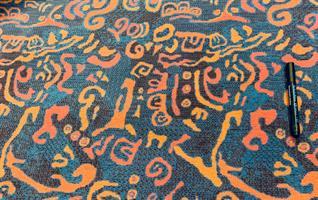 Bussplysch ull lila /orange /rosa